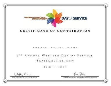 WDoS Certificate - 2015